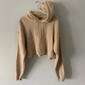 Nude Urban Outfitters Cropped Sweatshirt